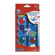 Lefranc & Bourgeois 12 Colour Gouache Paint Disc Set